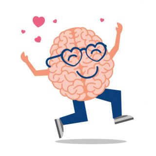 Happy Loving Brain Cartoon - iStock