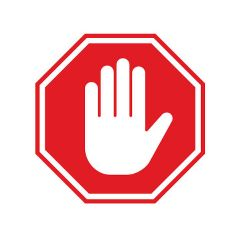 No-entry sign - iStock